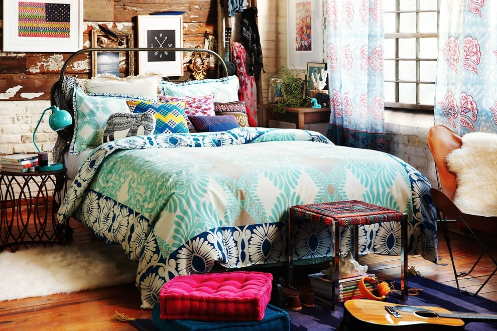 Спальная комната в стиле бохо