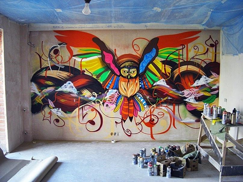 граффити в квартире самостоятельно фото