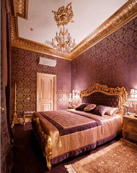 Стиль Версаль в интерьере спальной комнаты