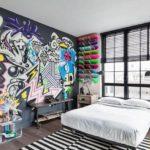 граффити в квартире 14