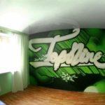 граффити в квартире 2