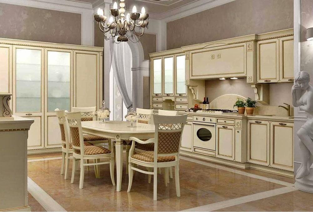 Венецианский стиль в интерьере кухни