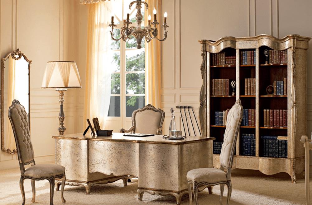 Венецианский стиль в интерьере кабинета