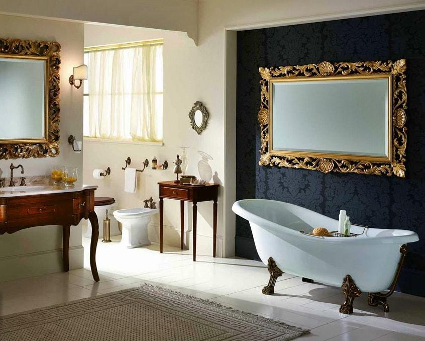 Стиль версаль в интерьере ванной комнаты