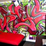 граффити в квартире 8