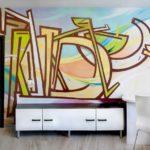 граффити в квартире 9