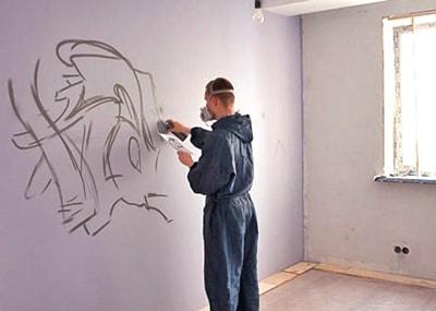граффити в квартире своими руками