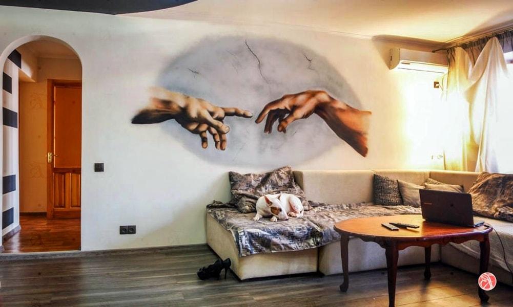 граффити в квартире фото примеры