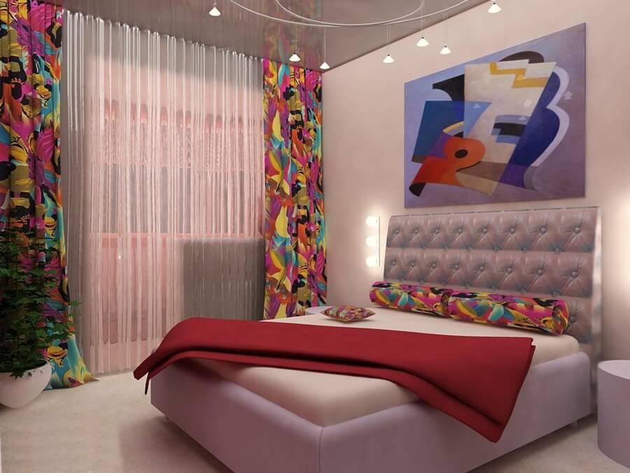 Онтоарт в интерьере спальной комнаты