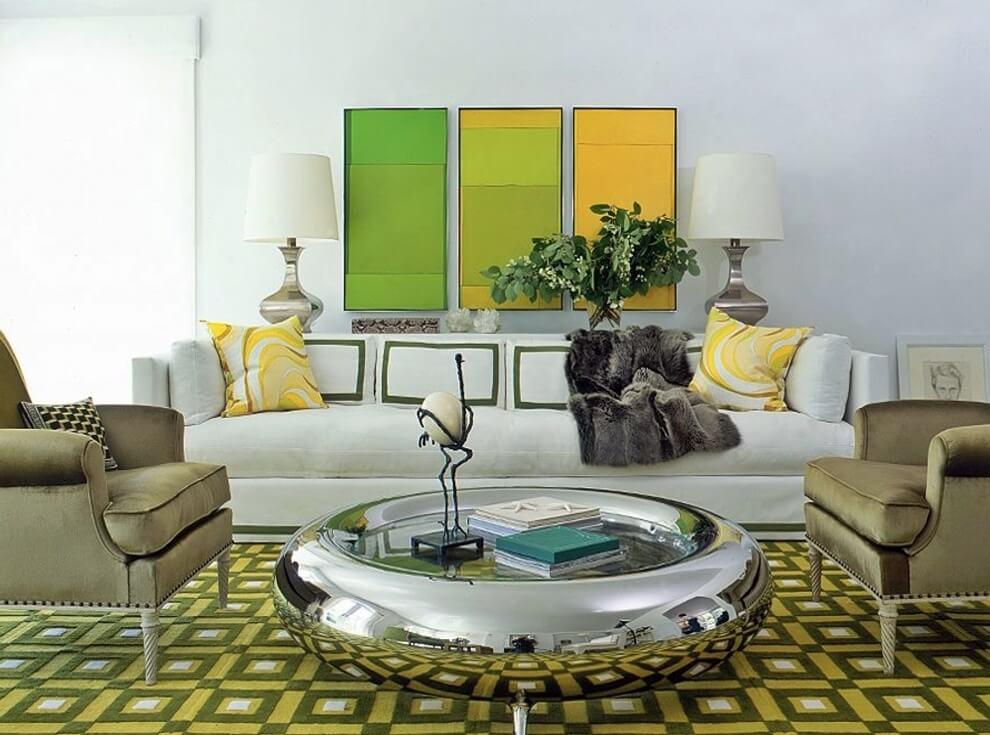 Цветовое оформление интерьера: аналоговые сочетания