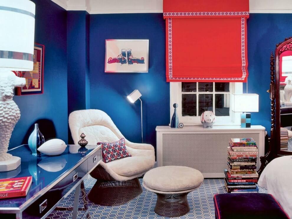 Цветовое оформление интерьера: контрастная композиция фото 1