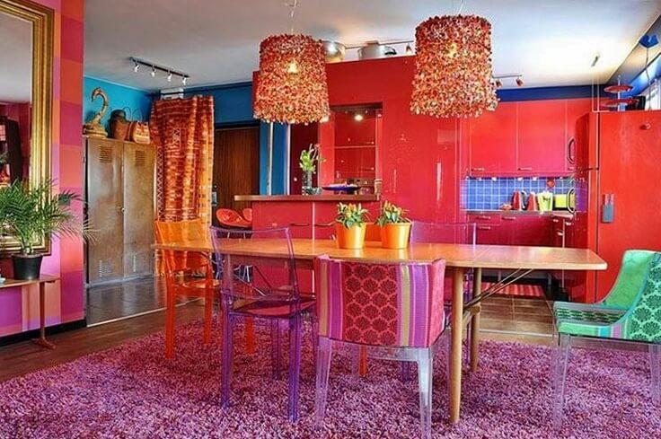 Стиль Китч в интерьере кухни фото