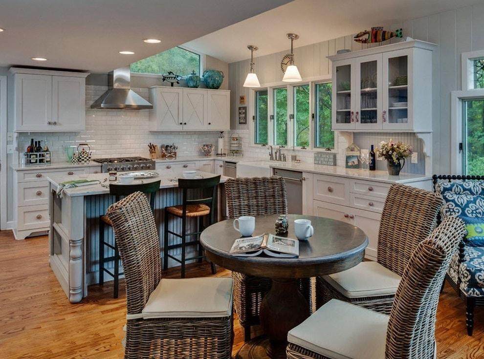 Экостиль в интерьере: мебель для кухни