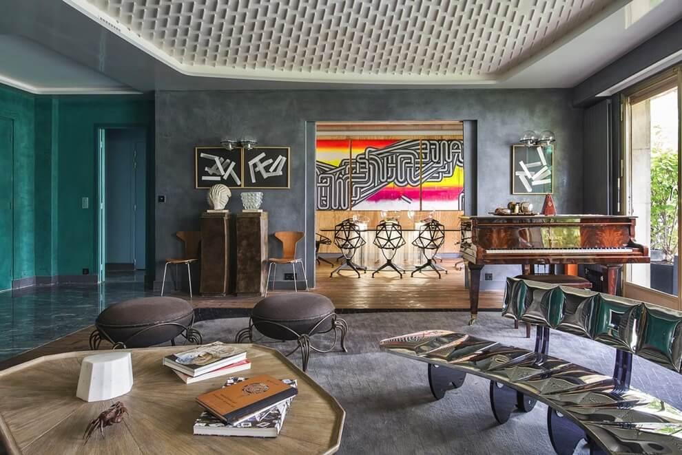 Постмодернизм в интерьере гостиной