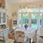 Кухня в стиле Шебби шик - крашеные стены