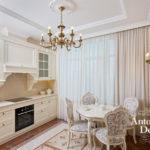 Стиль неоклассика в интерьере квартиры - кухня фото