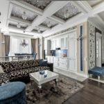 Стиль неоклассика в интерьере - кессонный потолок