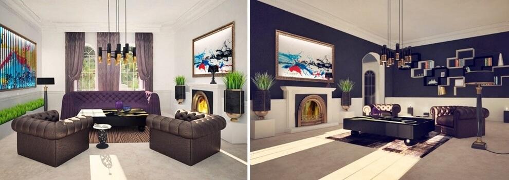 Стиль онтоарт в интерьере: мебель фото