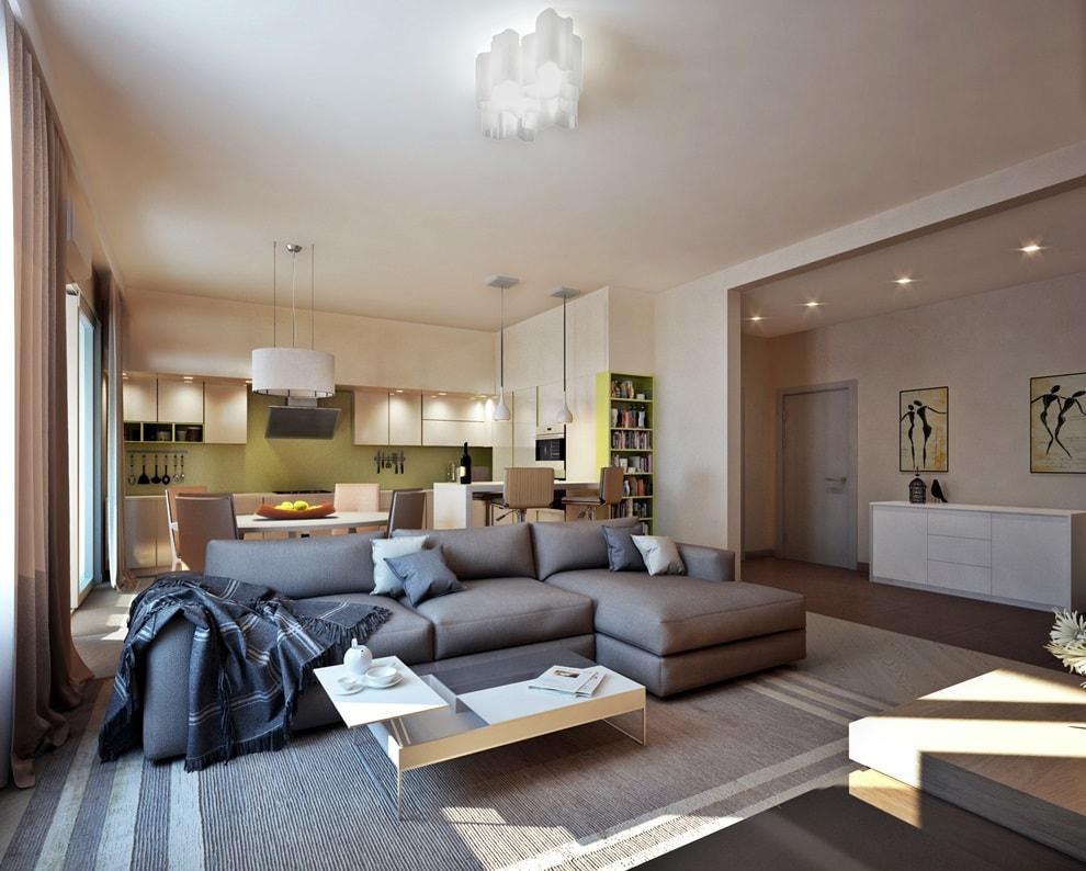 Экостиль в интерьере гостиной