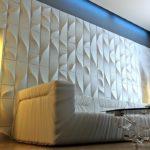 Стеновые 3д панели из гипса в интерьере