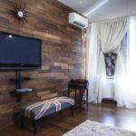 Стеновые 3д панели из дерева в интерьере