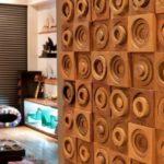 Деревянные стеновые 3д панели в интерьере фото