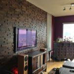 Деревянные стеновые 3д панели в интерьере