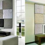 Полиуретановые стеновые 3д панели в интерьере