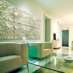 Полиуретановые стеновые 3d панели в интерьере фото