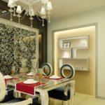 Стеклянные стеновые 3д панели в интерьере фото