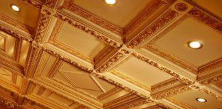 Кессонные потолки в интерьере фото