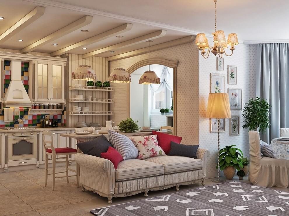 Дизайн интерьера в прованском стиле - материалы и отделка