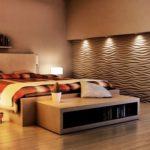 Дизайн спальни с 3д панелями фото