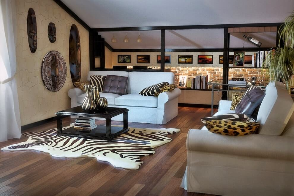 Африканский стиль в интерьере - текстиль