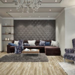 3д панели в интерьере гостиной комнаты