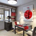 Цветовое оформление интерьера в японском стиле