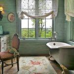 Ретро стиль в интерьере ванной комнаты фото