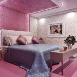 Дизайн спальной комнаты с 3д панелями