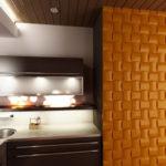 Оформление кухни с применением 3д панелей