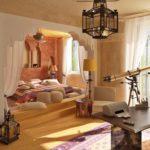 Марокканский стиль в интерьере комнаты фото