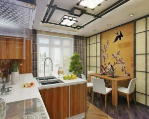 Интерьер кухни в китайском стиле фото