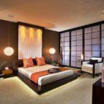 Оформление спальной комнаты в японском стиле
