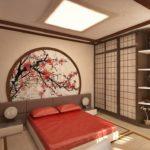 Китайский стиль в интерьере спальной фото