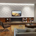 3д панели в интерьере просторной гостиной