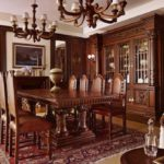 Английский стиль в интерьере - мебель столовой зоны