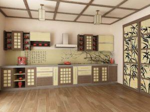 Китайский стиль в интерьере кухни фото