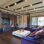 3д панели в интерьере просторной гостиной фото