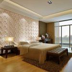 Дизайн спальной комнаты с применением 3д панелей