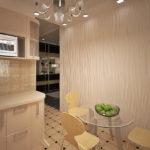 Гипсовые 3д панели в дизайне кухни