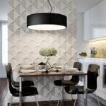 Гипсовые 3д панели в дизайне кухни фото